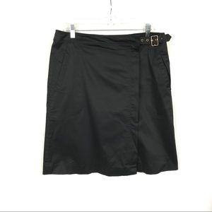 Tommy Hilfiger wrap skirt buckle zip